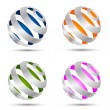 Royalty-Free Stock Immagine Vettoriale: Set of abstract spheres
