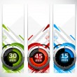 Set of banners with timers — Stock Vector #9402724