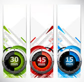 Set of banners with timers — Stockvector