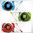 Banners with timers — Stock Vector
