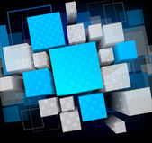 Background with cubes — 图库矢量图片