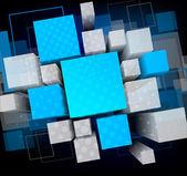 Fond avec cubes — Vecteur