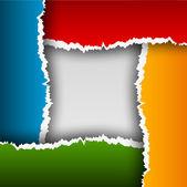Fondo abstracto con papel rasgado — Vector de stock