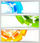 Set of tech banners — Stock Vector
