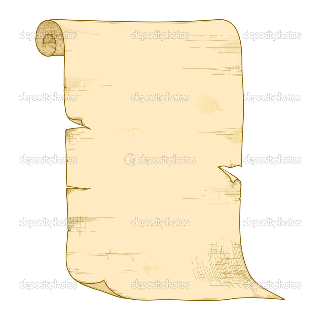 Vector old paper roll. — Stock Vector © AnnaChe #10241985  Old