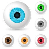 Human eyeballs — Stock Vector