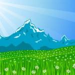 Spring landscape — Stock Vector