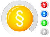 Buttons paragraph symbol — Stockvektor