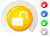 Buttons open padlock — Vector de stock