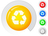 Buttons recycle symbol — Stock Vector