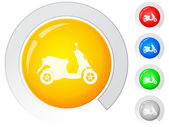Buttons scooter — Stock Vector