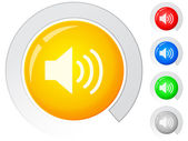 Buttons sound — Stock Vector