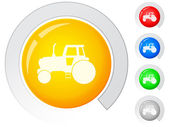 Buttons tractor — Vector de stock