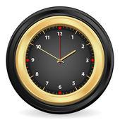 Black gold clock — Stock Vector