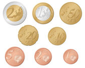 Euro coins — Stock Vector