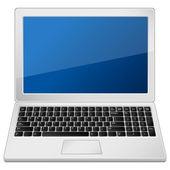 Grå laptop — Stockvektor