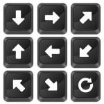 Computer buttons arrows — Stock Vector