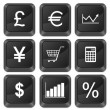Stock Vector: Computer buttons finances
