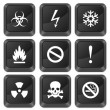 Royalty-Free Stock Vector Image: Computer buttons warning sign