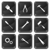Computer buttons tools — Stock Vector