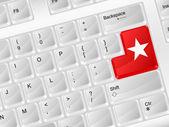 Simbolo stella di tastiera computer — Vettoriale Stock