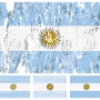 Argentina grunge flag set — Stock Vector