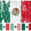 Mexico grunge flag set — Stock Vector