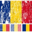 Royalty-Free Stock Vector Image: Romania grunge flag set