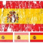 Spagna grunge flag impostato — Vettoriale Stock