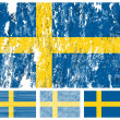 Sweden grunge flag set — Stock Vector #8747472