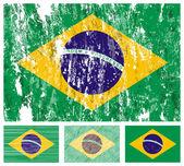 Brazil grunge flag set — Stock Vector