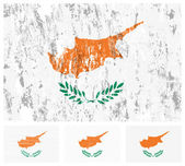 Cyprus grunge flag set — Stock Vector