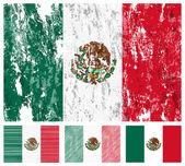 Mexico grunge flag set — Stock Vector
