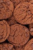 Chocolate chip cookies bakgrund vertikala — Stockfoto