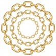 Gold circle chain — Stock Vector