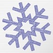 Royalty-Free Stock Vector Image: Drawing snowflake 2