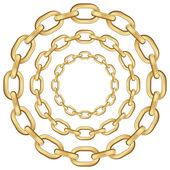 Altın daire zinciri — Stok Vektör