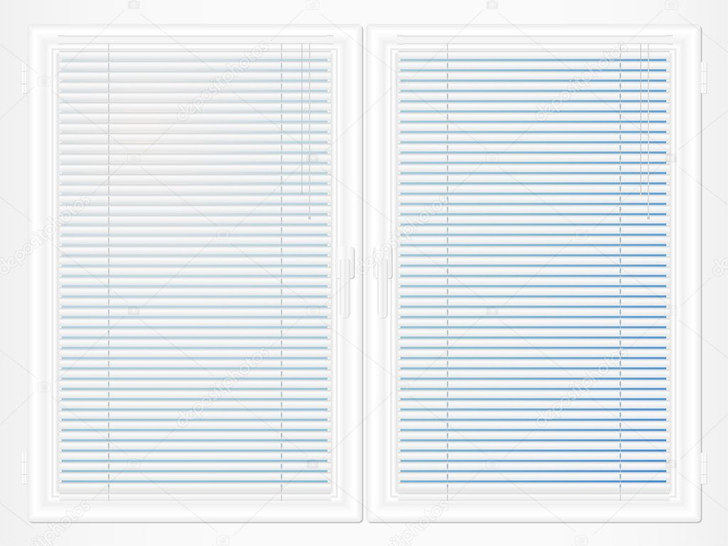 Pvc window with persienne stock vector julydfg 9214101 for Persienne pvc