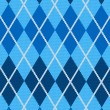 Realistic argyle fabric — Stock Vector