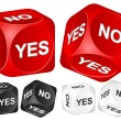 Yes no dice - Stock Vector