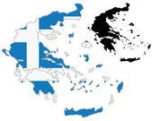 Greece map flag — Stock Vector