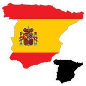 Spain map flag — Stock Vector