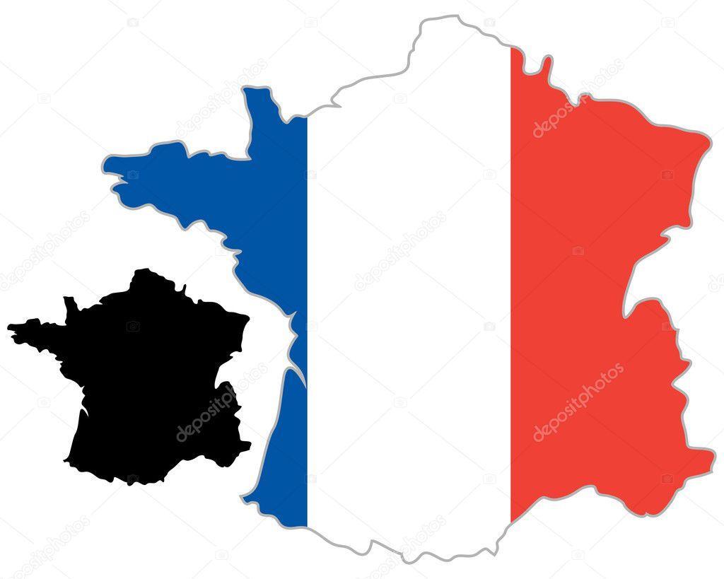 法国地图标志 — 图库矢量图片