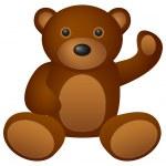 Teddy bear toy — Stock Vector #9701656