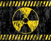 Grunge radiation sign background — Stock Vector