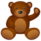 Teddy bear speelgoed — Stockvector