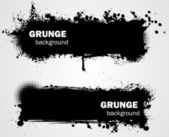 Grunge backgrounds in black color — Stock Vector