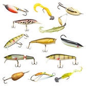 Fishing Baits Collection — Stock Photo