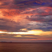 Solnedgång över andamansjön — Stockfoto