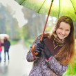 Girl under Rain — Stock Photo